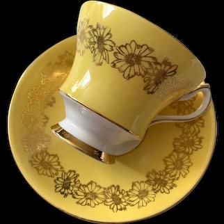 Society Bone China Tea Cup & Saucer - Yellow - Rose