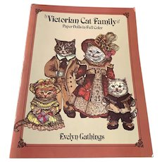 1984 Victorian Cat Family Paper Doll Book - Unused