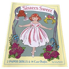 2009 First Edition Paper Doll Book - Sisters Sweet - Unused