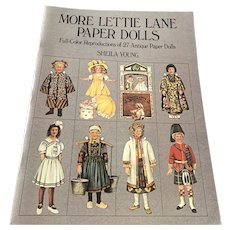 1981 Dover Publications Unused Paper Doll Book  - More Lettie Lane