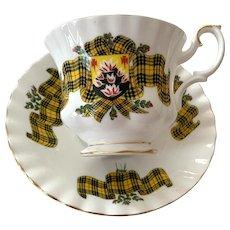 Royal Albert Bone China Tea Cup & Saucer - Scottish Tartan Series - Macleod