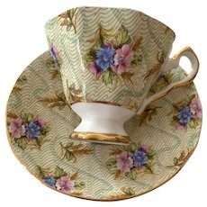 Royal Stafford Bone China Teacup & Saucer - Elizabeth Pattern