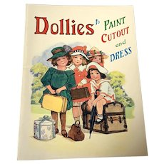 1982 Merrimack Publishing Paper Doll Book - Dollies To Paint , Cutout & Color - Unused