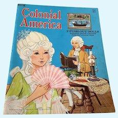 2074 Saalfield Paper Doll Book - Colonial America - Unused