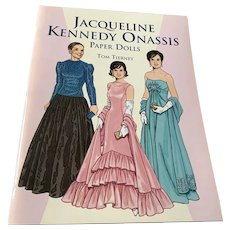 Jacqueline Kennedy Onassis Uncut Paper Doll Book - Tom Tierney