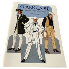 1986 Tom Tierney Uncut Book Of Paper Dolls - Clark Gable