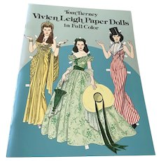 1981 Tom Tierney Unused Paper Doll Book  - Vivian Leigh