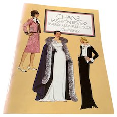 1986 Tom Tierney Uncut Book Of Paper Dolls - Chanel Fashion Review