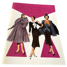 1988 Tom Tierney Unused Paper Doll Book  -  Schiaparelli Fashion Review