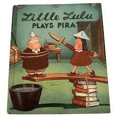 1946 Vintage McLoughlin Bros. Children's Book - Marge's Little Lulu Plays Pirate