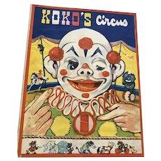 1942 Children's Book - Animated - Koko's Circus