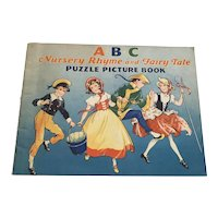Vintage Children's  Book - ABC Nursery Rhyme & Fairy Tale Puzzle Picture Book