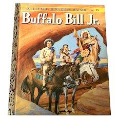 """1956 Little Golden Book - Buffalo Bill Jr. - First Edition """"A"""""""