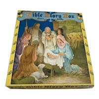 1941 Saalfield Boxed Set 4 Children's Books - Bible Story Box