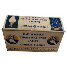Boxed Set Of Ten Vintage GE Mazda Christmas Light Bulbs - Mixed