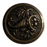 3 Metal Picture Buttons - Cornucopia - Loop Shanks