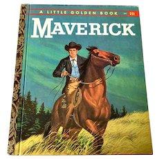 """1959 First Edition """" A """" Little Golden Book - Maverick - # 354"""