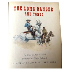 """1957 First Edition """"A"""" Little Golden Book - The Lone Ranger & Tonto"""