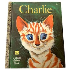 "1970 Little Golden Book - First Edition ""A"" - Charlie - Orange Tiger Cat"