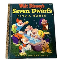 1952 Little Golden Book - Walt Disney's Seven Dwarfs Find A House-A