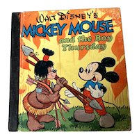 1948 Whitman Walt Disney Children's Book - Mickey Mouse & The Boy Thursday