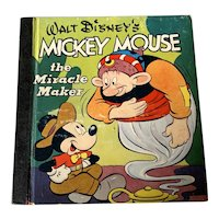 Vintage 1948 Walt Disney  Children's Book -  Mickey Mouse The Miracle Maker