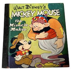 Vintage 1948 Whitman Publishing Co . Walt Disney  Children's Book -  Mickey Mouse The Miracle Maker