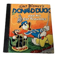 1948 Walt Disney Children's Book - Donald Duck Cat Troubles
