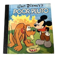 1948 Whitman Publishing Co . Walt Disney  Children's Book - Poor Pluto