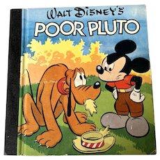 1948 Whitman Publishing Co . Walt Disney  Children's Book - Poor Pluto