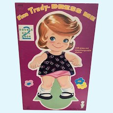 Vintage Lowe Uncut Paper Doll Book -  Trudy & Katie