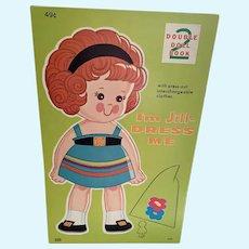 Vintage Lowe Uncut Paper Doll Book - Amy & Jill # 4501