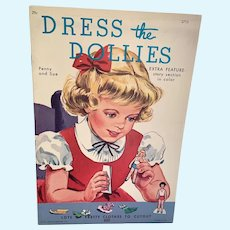 Vintage Lowe Uncut Paper Doll Book - Dress The Dollies - Penny & Sue