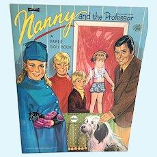 Vintage Artcraft Uncut Paper Doll Book -  Nanny & The Professor  #5114
