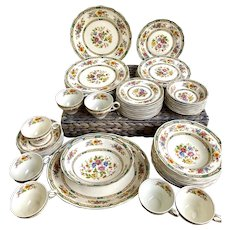 "Grindley England ""Chelsea Bouquet"" Creampetal China 60pc. Set"