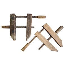 Vintage Wooden Carpenter Clamps