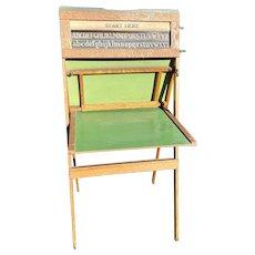 Vintage Litho Plate Richmond School Furniture Wood Easel Chalkboard/Desk