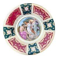 J.K Carlsbad Portrait Plate Dancing Women & Man Playing the Flute
