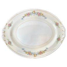 """Homer Laughlin Cashmere 16"""" Large Platter NICE! 1950s Eggshell Georgian"""