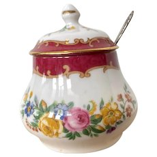 Crown Staffordshire Black Victoria Sugar Bowl from England