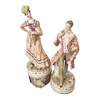 Italian CAPODIMONTE Figurine Pair in Matching Clothes