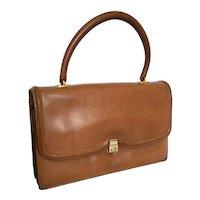 1958 Hermès Paris Sac Chaîne d'Ancre Leather Top-Handle Handbag Purse