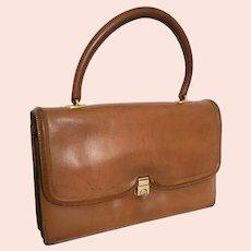 1950s Hermès Paris Sac Chaîne d'Ancre Leather Top-Handle Handbag Purse