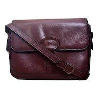 1970s Bonnie Cashin for Meyers Purse Burgundy Pebbled Leather Shoulder Bag