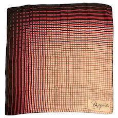 1960s Schiaparelli Hand Rolled Silk Square Scarf