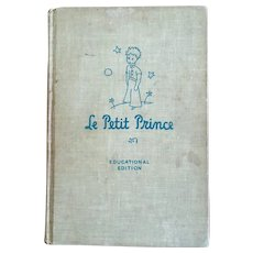 1946 Rare 'Le Petit Prince' Educational Edition Vintage 'The Little Prince' French Hardcover book