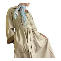 1970s Bonnie Cashin WeatherWear for Russ Taylor Union Made Belted Trench Rain Coat