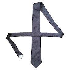 Vintage Don Loper Gray Red Teardrop Pattern Necktie