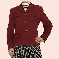 Vintage Austin Reed Red Wool Fitted Blazer