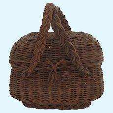 Old dolls  basket
